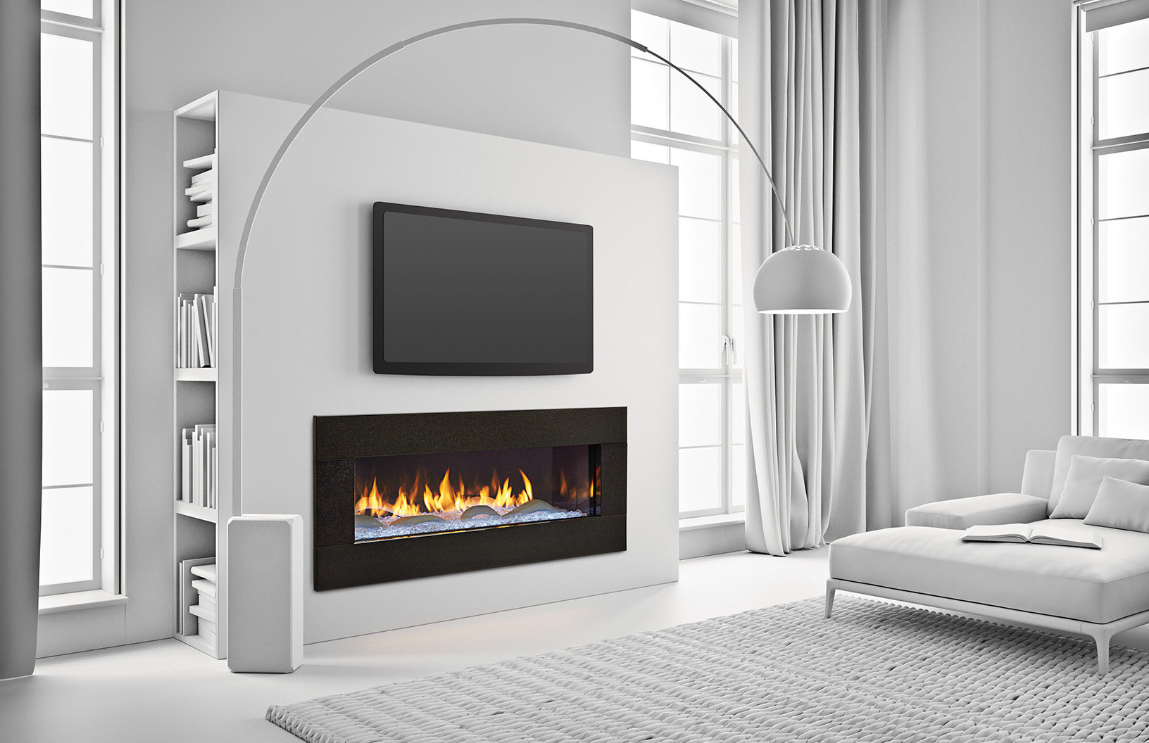 Heat Glo Primo 48 Modern Gas Fireplace