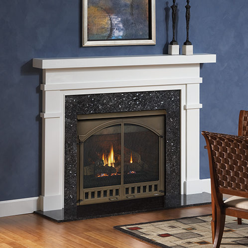 caliber traditional gas fireplace
