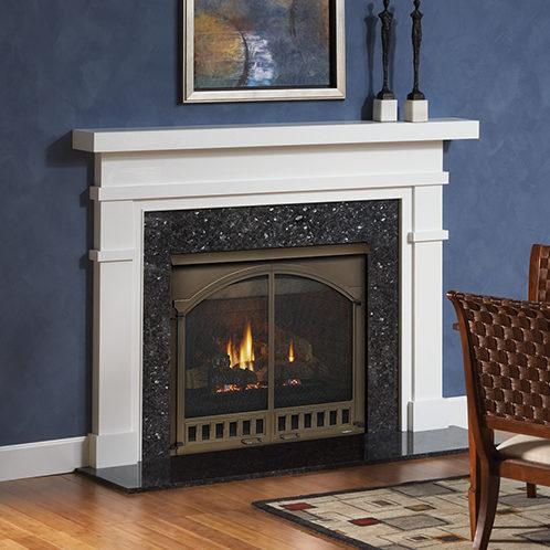 caliber traditional gas fireplace