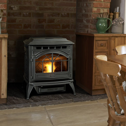 castile stove traditional pellet photo black color thumb