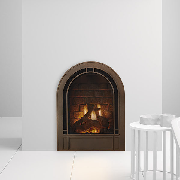crescent ii gas fireplace photo essence bronze thumb