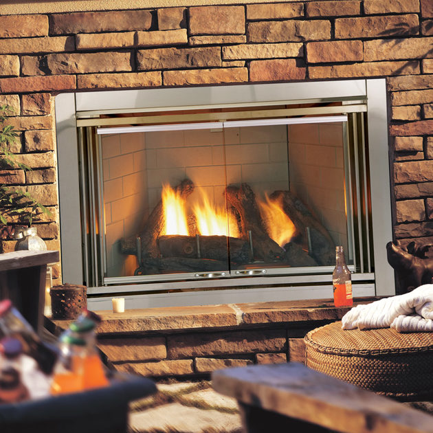 dakota outdoor traditional gas fireplace