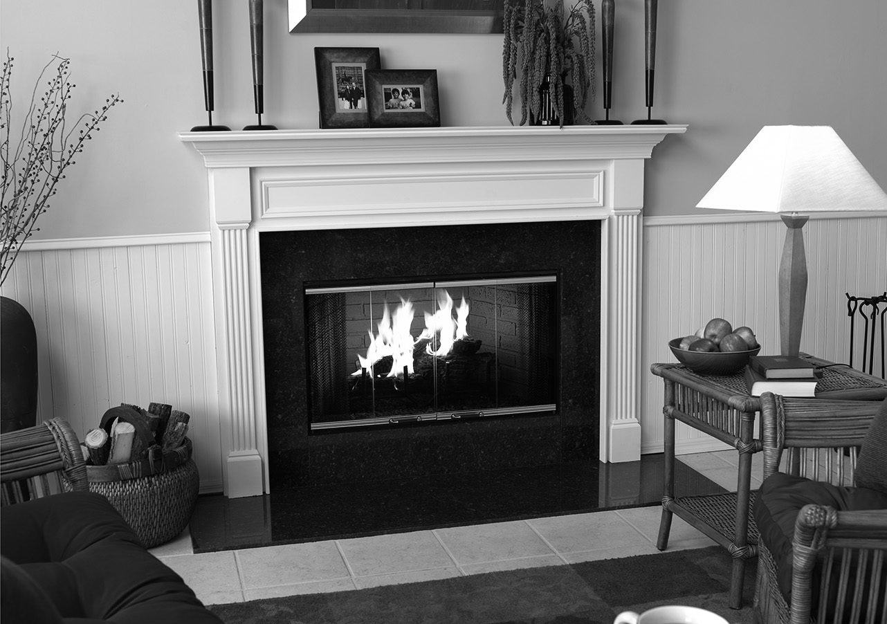 element doors traditional fireplace & element-photo-dm-doors-gray-low-res - Forge Distribution