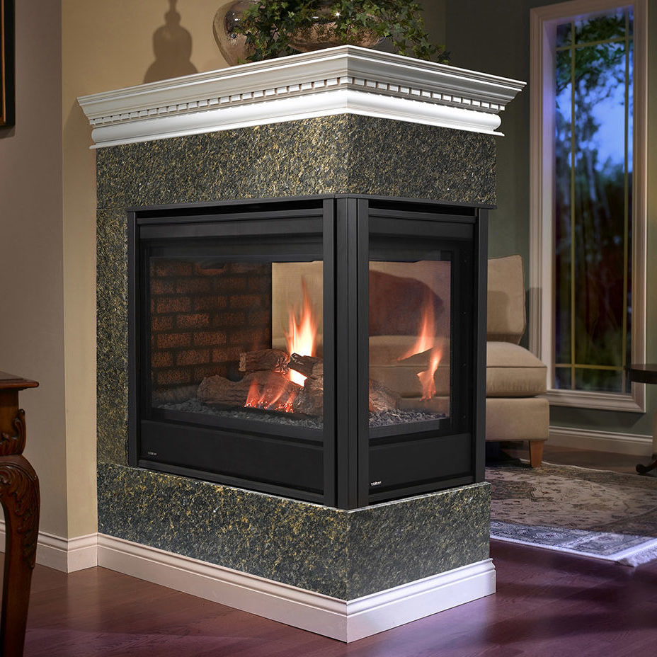Heatilator multi sided fireplaces forge distribution for Four sided fireplace