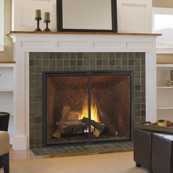 heirloom gas fireplace traditional