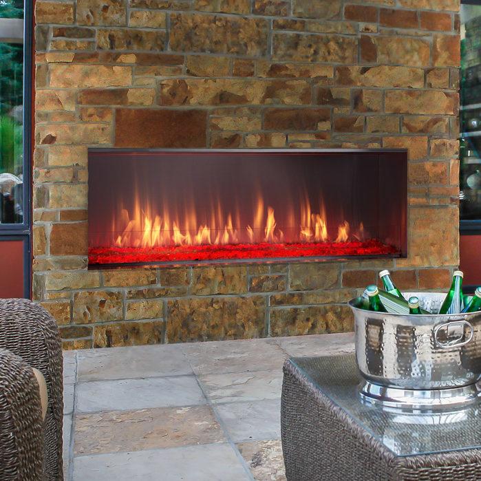 Foyer au gaz ext rieur lanai par outdoor lifestyles for Foyer gaz exterieur