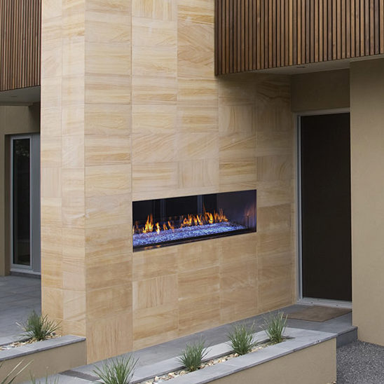 Palazzo 48 see-through modern gas outdoor fireplace