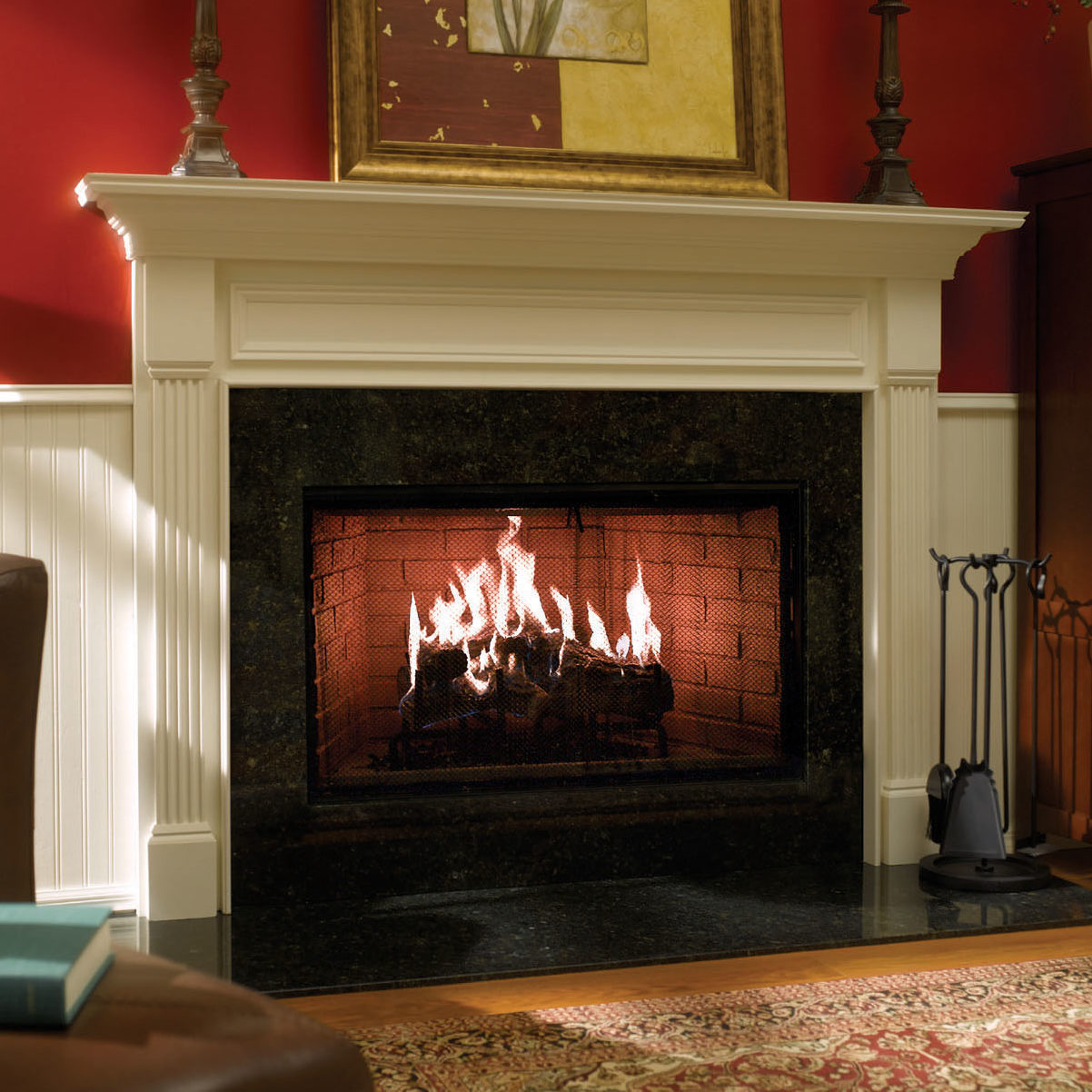 Royal Hearth traditional wood fireplace