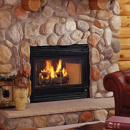 SC60 - wood traditional fireplace