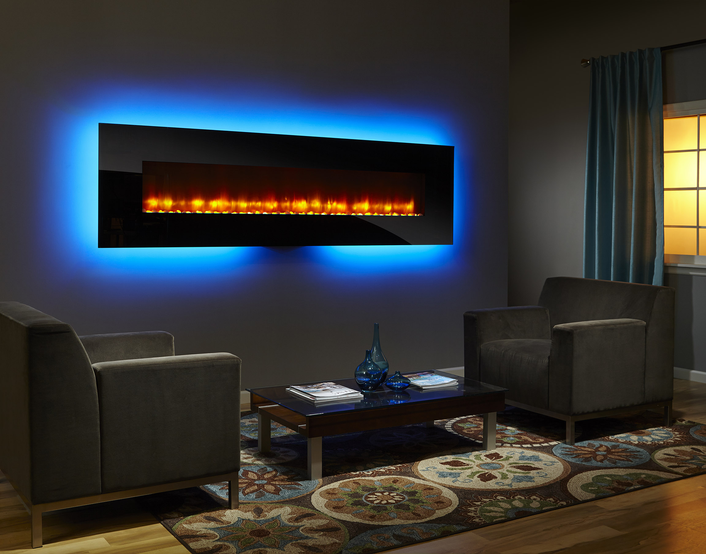 Simplifire Wall Mount 94 Photo Black Orange Flame Lt Blue Light Color Low Res Forge