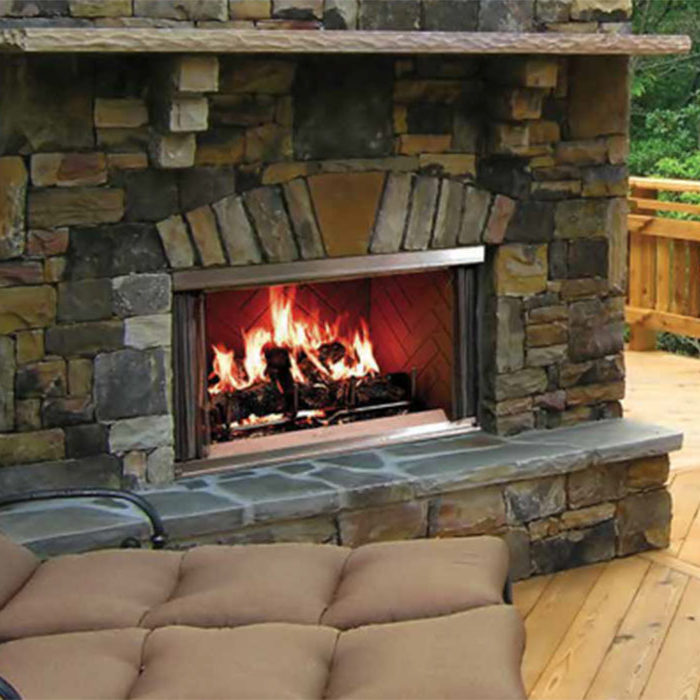 Montana Outdoor Fireplace