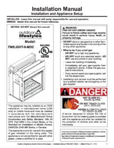 Twilight Modern Gas Fireplace Install Manual Forge Distribution